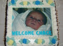 Jeanne's Bakery - Baby Photo Cake